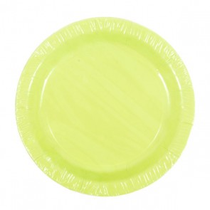 Lime Green Plates - 7""