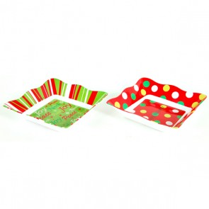 Square Holiday Serving Trays
