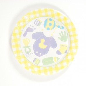 "Baby Shower 9"" Plate by FLOMO"