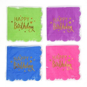 Bright Colors Scalloped Napkins by FLOMO