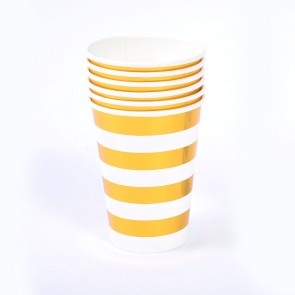 Gold Stripe Hot Stamp Party Cups