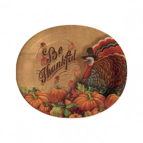 Thanksgiving Oval Paper Plates