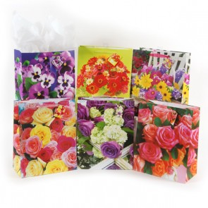 Extra Large Forever Flowers with Chiffon Handle on Matte Gift Bag