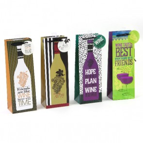 """Friends Are Like Wine"" Bottle Gift Bags"