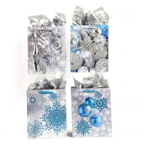 "Large ""Frosty Ornaments"" Christmas Gift Bags by FLOMO"
