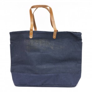 The Royal Standard Classic Jute Burlap Shopper Tote Bag
