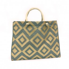 The Royal Standard Diamond Glamour Jute Burlap Tote Bag