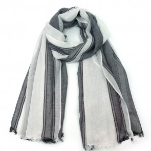 The Royal Standard Marley Scarf - Black/White