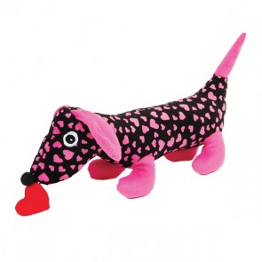 FLOMO Hearts Printed Dog with Heart Toy