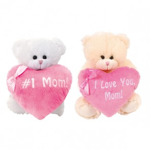 Mother's Day Plush Bear and Heart