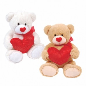 Sparkle Bear with Glitter Heart Plush