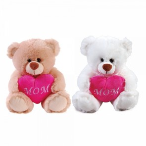 FLOMO Mom's Sweety Bear with Heart Plush