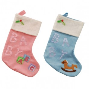 FLOMO Baby Gingham Christmas Stocking