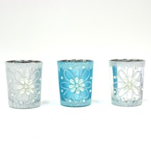 Candle Votives with Glitter by Holiday Essentials