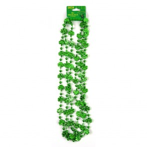 St. Patrick's Day Shamrock Bead Necklace by FLOMO