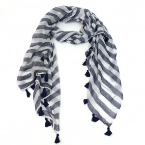Striped Scarf with Tassels by Saro Lifestyle