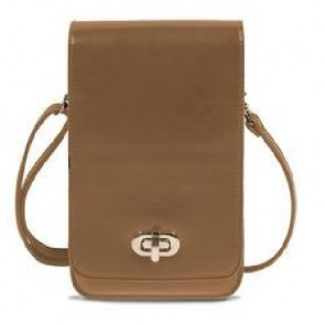 Save the Girls Classic Elegance Cell Phone Purse - Brown