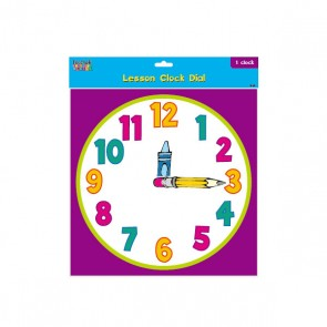 Teacher Building Blocks Lesson Clock Dial - Cartoon
