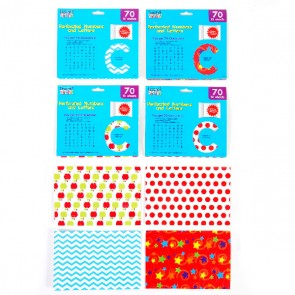 Letter and Number Cutouts - Assorted Patterns