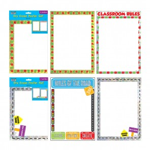 Hologram Dry Erase Class Rules Poster