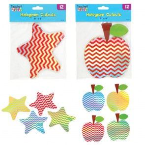 Dry Erase Hologram Chevron Classroom Cutouts - Assorted