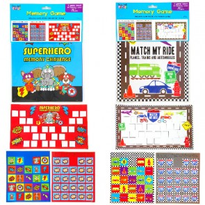 Teacher Building Blocks Classroom Memory Game Set - Superhero, Road Signs