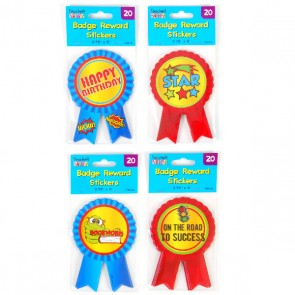 Teacher Building Blocks Ribbon Badge Reward Stickers
