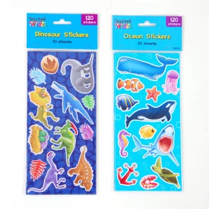 Ocean and Dinosaur Stickers