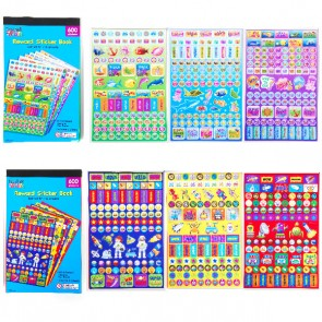 Teacher Building Blocks Reward Sticker Books - Ocean, Robot