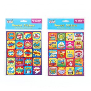Teacher Building Blocks Square Reward Stickers - Superhero, Robot