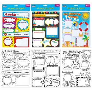 Teacher Building Blocks All About Me Activity Sheets