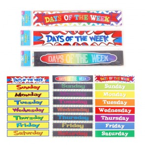 Teacher Building Blocks Days of the Week Border Strips