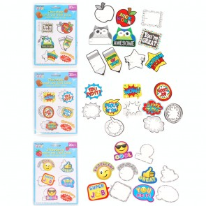 Teacher Building Blocks Scratch N Sniff Award Coupons - Emoji, Owl, Superhero