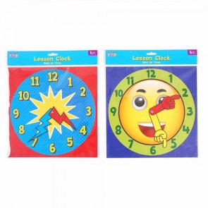 Teacher Building Blocks Lesson Clock Dial - Smiley Face, Superhero