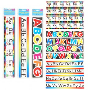 Teacher Building Blocks Rainbow Alphabet Borders