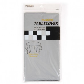 Silver Table Cover - Round
