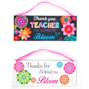 FLOMO Bloom Teacher Hanging Plaques