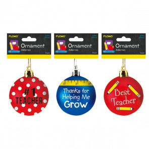 Teacher Appreciation Ornaments - Assorted