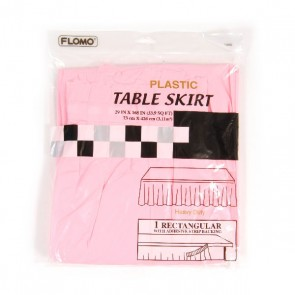 Pastel Pink Rectangular Table Skirt