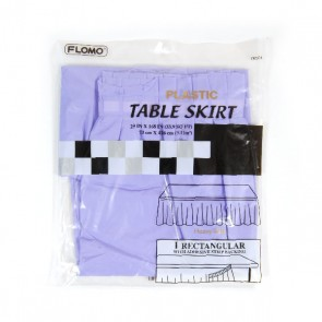 Lavender Rectangular Table Skirt