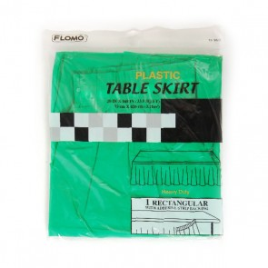 Green Rectangular Table Skirt