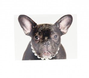 French Bulldog With Pearls Card