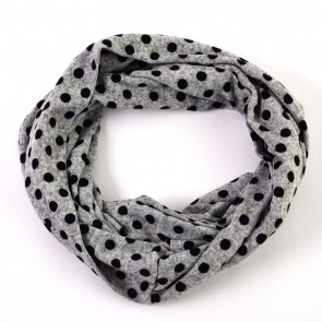 Grey Playful Polka Dot Infinity Scarf by Tickled Pink
