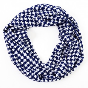 Blue Houndstooth Infinity Scarf by Tickled Pink