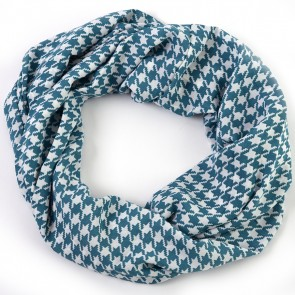Seafoam Green Houndstooth Infinity Scarf by Tickled Pink