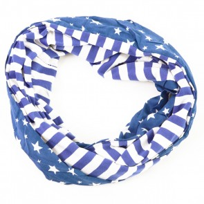 Blue Stars and Stripes Infinity Scarf by Tickled Pink