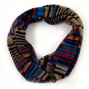 Multicolor Striped Infinity Scarf by Tickled Pink