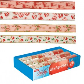 Christmas Wire Ribbon Rolls