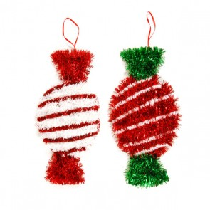 Christmas Candy Tinsel Decoration-Assorted