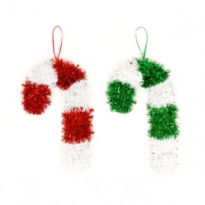 Candy Cane Tinsel Decoration-Assorted